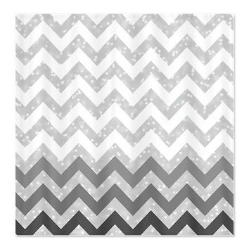 Grey Chevron Shower Curtain - Ornaart Design