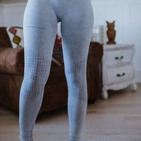 Moto Knee Legging - Ice Blue