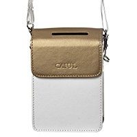 CAIUL PU Leather Case for Fujifilm INSTAX SHARE SP-2 Smart Phone Printer (Gold)