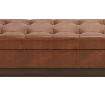 A.M.B. Furniture & Design :: Bedroom furniture :: Bedroom Benches :: Leather Spacious Storage Bench with Timeless Design