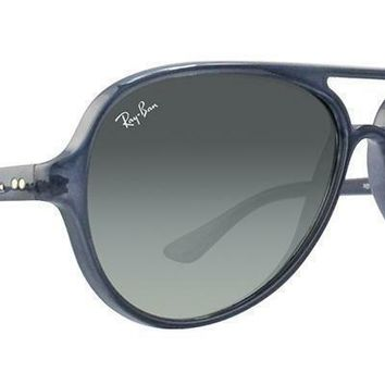 dfcc83312b158 Ray Ban RB4125 630371 Cats 5000 Blue Frame Grey Gradient 59mm Le