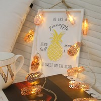 10pcs Pineapple Bulb String Light