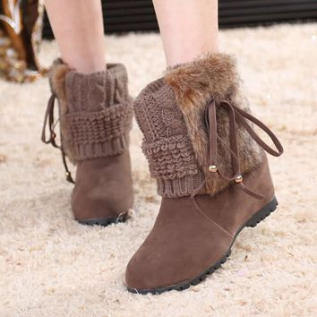 AKE SIA - Stylish Winter Knitted Ankle Boot*