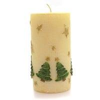 Christmas Trees & Stars Candle Decorative Candle