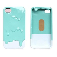 New 3D Melt Ice-Cream Skin Protect Hard Case Cover For Apple iPhone 4 4S 5 5G