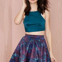 Nasty Gal Wild for the Night Satin Skirt