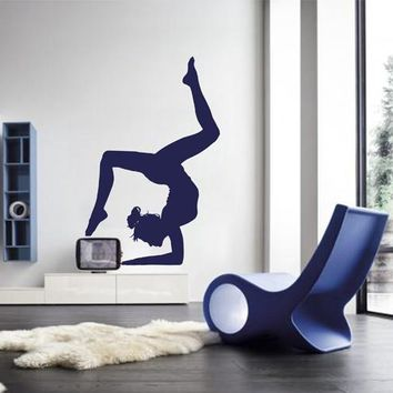 ik2230 Wall Decal Sticker Girl gymnast sports hall bedroom