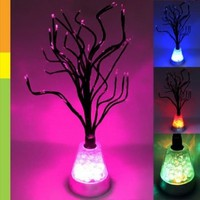 Leegoal Color Changing LED Tree Blossom Mood Light Desk Floor Lamp