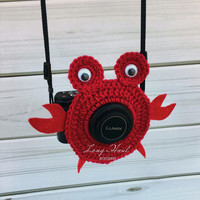 Crab Camera Accessory, Camera Accessory, Camera Buddy, Crab Crochet, Photography, Children Photography, Crochet Crab, Crab Lens Buddy