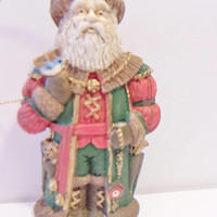 Santa Claus Christmas Ornament Old World Rustic Nature Holiday Home Decor