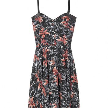 Hawaiian print bustier dress - The Kooples