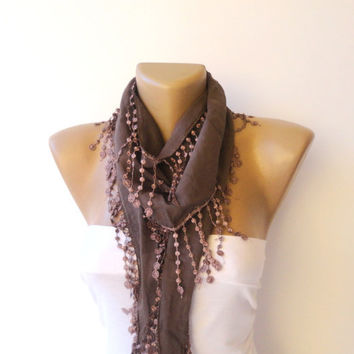 fringe handmade scarf, women fashion scarves, cotton Yemeni fabric scarf