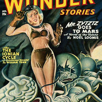 Vintage Sci Fi Poster ANC Thrilling Wonder Stories