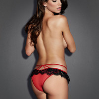 Beaded Lace Open Panel Panty