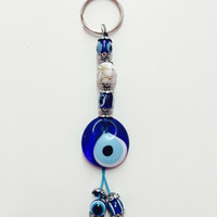 Evil Eye Stone Key Chain