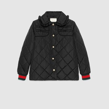 Gucci Quilted jacket with Web