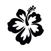 HIBISCUS FLOWER - Hawaiian - Car, Truck, Notebook, Vinyl Decal Sticker Any Corlor