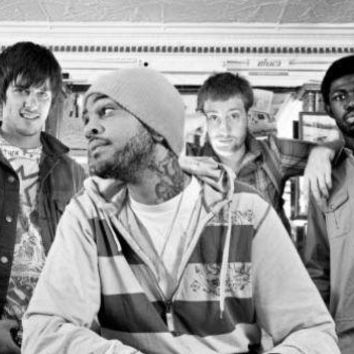 Gym Class Heroes Poster Standup 4inx6in black and white