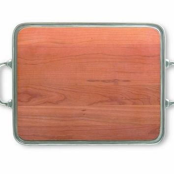 """Match Pewter Cheese Tray - 15"""""""