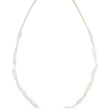 Chan Luu White Crystal Necklace