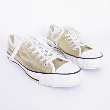 Clear Converse Chuck Taylor All Star Low Top Tennis Shoe Transparent Plastic 90s Shoe