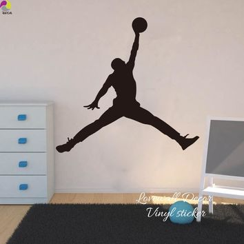 Michael Jordan Chicago Bulls Wall Sticker Living Room NBA Basketball Player Wall Decal BedRoom Children Room Vinyl Home Decor