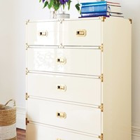 Lacquered Wellington Six-Drawer Dresser