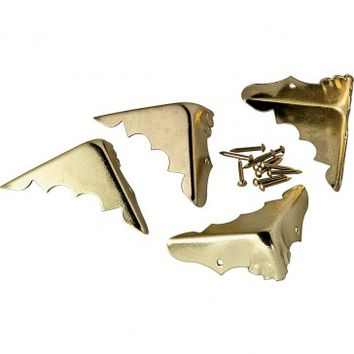 Brass Plated Trunk Corners - Rockler Woodworking Tools
