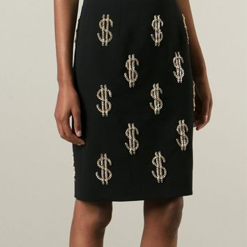 Moschino Chain Dollar Sign Pencil Skirt - Stefania Mode - Farfetch.com
