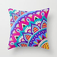 Mandala Layers Throw Pillow by PeriwinklePeacoat | Society6