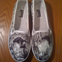 Sleeping Beauty and Little Mermaid Custom Made Shoes by BRINKADINK