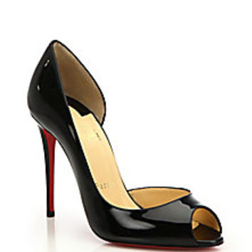 Christian Louboutin - Demi You Patent Leather Peep-Toe Pumps - Saks Fifth Avenue Mobile