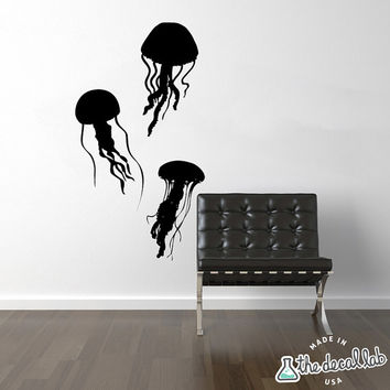 Jellyfish Decal - Jellyfish Wall Decal - Removable Wall Decal - Matte Decal