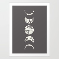 Lunar Nature Art Print by Bohemian Gypsy Jane