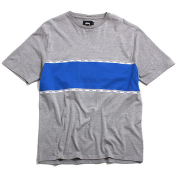 Tape Stripe Crew T-Shirt Heather Grey