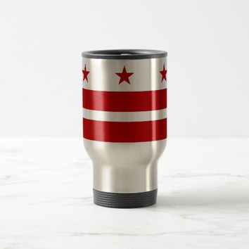 Travel Mug with Flag of Washington DC- USA