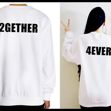 2gether 4ever Cute Matching Couple His and Her Unisex T-shirts/ Sweatshirts (Gift for Couples)