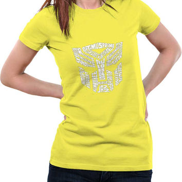 Autobot Optimus Prime Transformer (Black and White) Woman T-Shirt