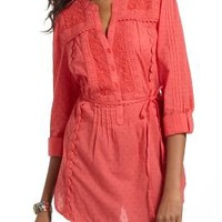 Clipped Dot Peasant Blouse - Anthropologie.com