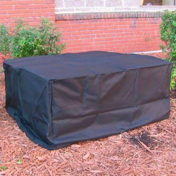 48x18 Square Fire Pit Cover Water Proof - Black