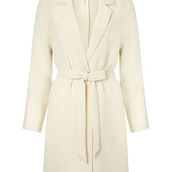Cream Lightweight Duster - Miss Selfridge