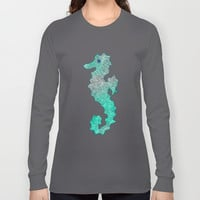 SEAHORSE Long Sleeve T-shirts by Catspaws | Society6
