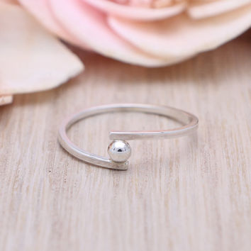925 sterling silver small ball ring