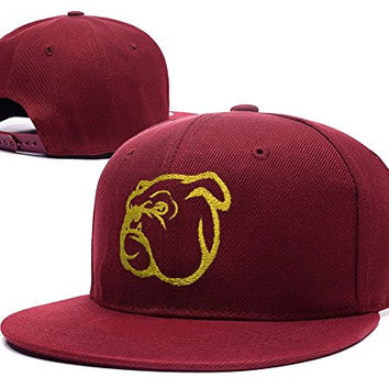 JIAQ Mississippi State Bulldogs Head Adjustable Snapback Embroidery Hats Caps