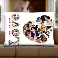 Custom Pillow Cover - Love Louis Tomlinson One Direction 1D
