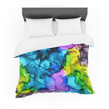 "Claire Day ""Mermaids"" Blue Paint Featherweight Duvet Cover"
