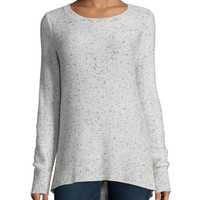 Rag & Bone Tamara Melange Cashmere Sweater, Light Gray