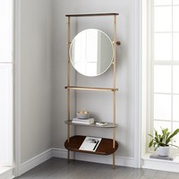 Modern Entryway Mirror + Coat Rack