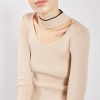 PETITE Fine Gage Choker Knit Top - New In Petite, Tall & Maternity - New In
