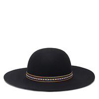 Embroidered Band Floppy Hat